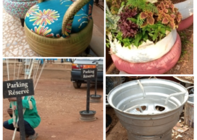 Réutiliser des pneus et jantes au Cameroun