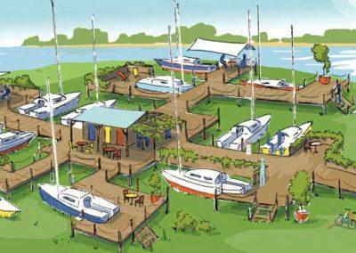 Repenser les usages nouveaux de bateaux de plaisance reconvertis et rassemblés dans un port-village